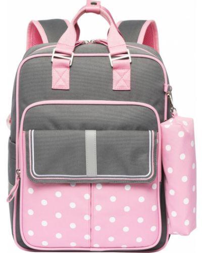Школьный розовый ранец на молнии на бретелях Action!