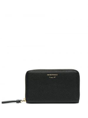 Черный кожаный кошелек со шлицей Emporio Armani