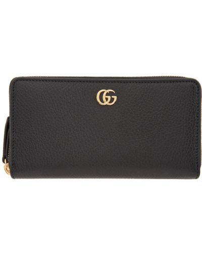 Skórzany portfel z gniazdem z kieszeniami złoto Gucci