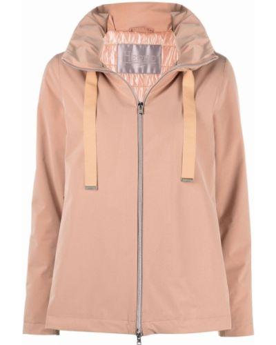 Розовая куртка двусторонняя на молнии с капюшоном Herno