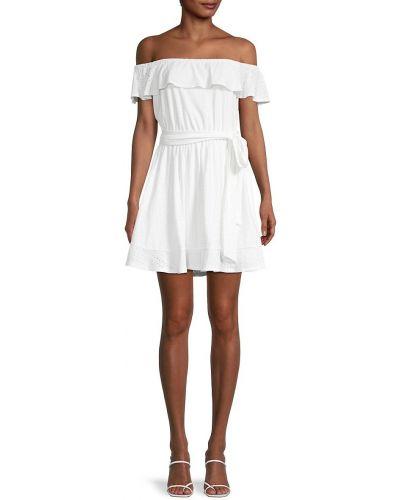 Белое платье с поясом Bcbgeneration