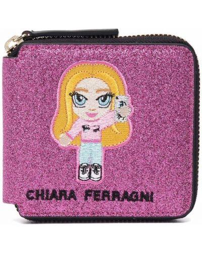 Мерцающий розовый кошелек для монет Chiara Ferragni Kids