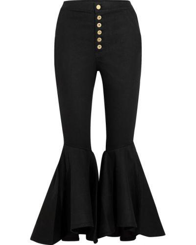 Czarne jeansy bawełniane rozkloszowane Ellery