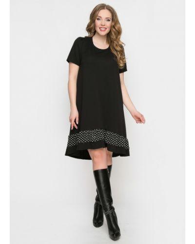 Повседневное с рукавами трикотажное платье мини Diolche