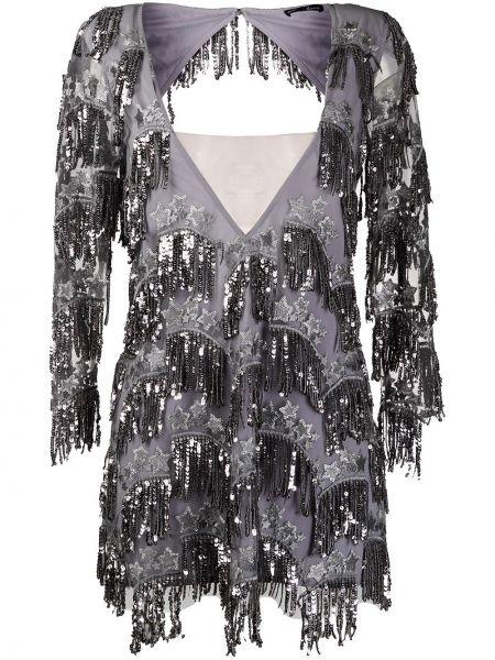 Платье мини с открытой спиной с бахромой For Love & Lemons