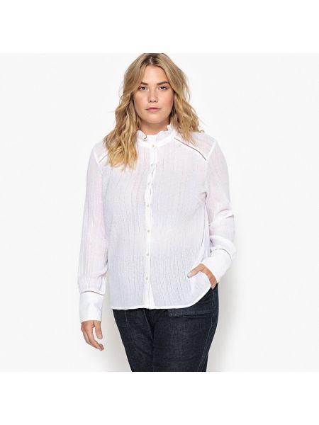 Рубашка с длинным рукавом с воротником-стойкой хлопковая Castaluna