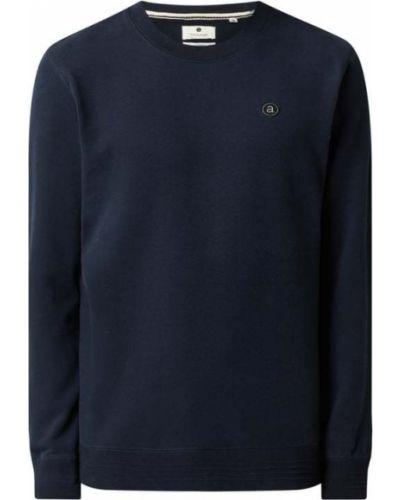 Prążkowana niebieska bluza bawełniana Anerkjendt