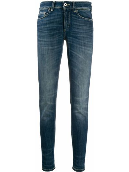 Укороченные джинсы скинни синие Dondup
