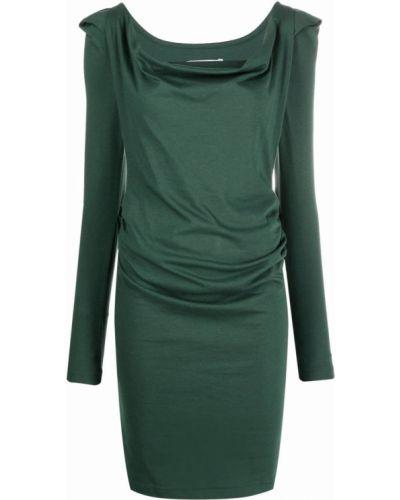 Зеленое платье с драпировкой Vivienne Westwood