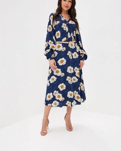 Платье осеннее синее Ksenia Knyazeva