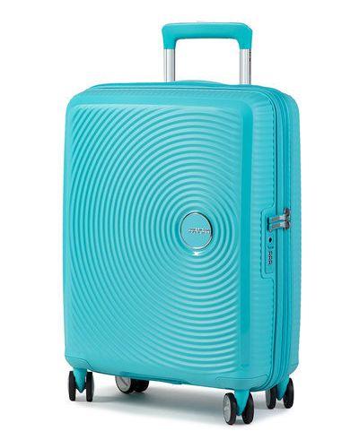 Niebieska walizka American Tourister
