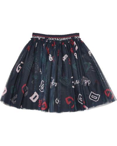 Niebieski spódnica z tiulu Dolce & Gabbana Kids