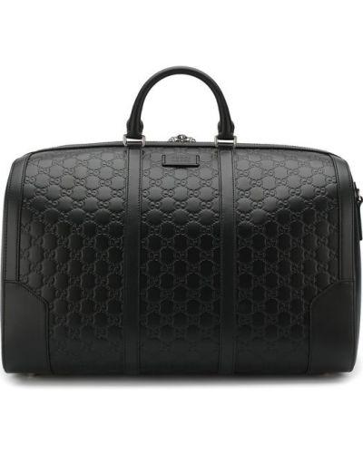 Дорожная сумка кожаная круглая Gucci