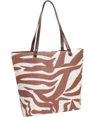 Brązowa torebka na plażę Semiline