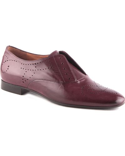 Кожаные туфли - бордовые Fratelli Rossetti
