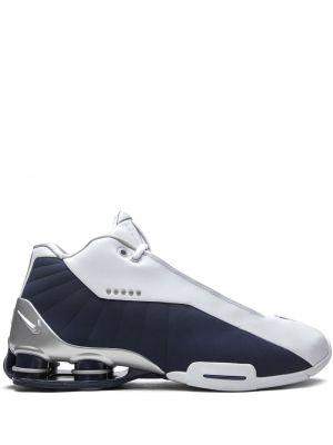 Кожаные белые кроссовки на шнурках Nike