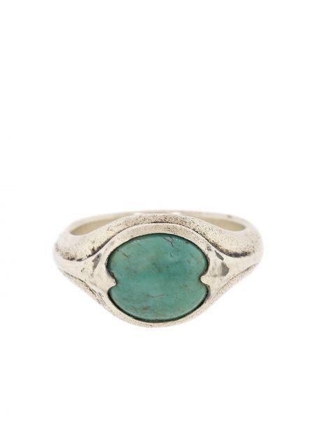Srebro pierścień zabytkowe wytłoczony John Varvatos