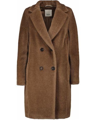 Brązowy płaszcz ocieplany S Max Mara