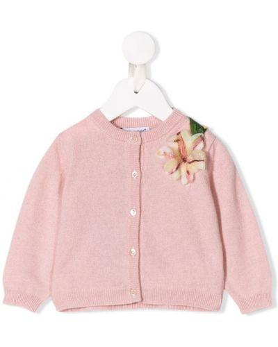 Кардиган розовый с манжетами Dolce & Gabbana Kids