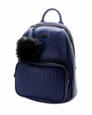 Кожаный рюкзак - синий David Jones