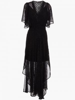 Шифоновое платье миди - черное Maje