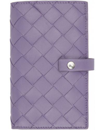 Фиолетовый кошелек с тиснением с подкладкой Bottega Veneta