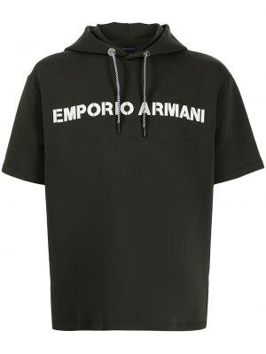 Bluza z nadrukiem z printem - biała Emporio Armani