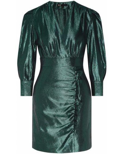 Коктейльное платье с запахом с вырезом Maje