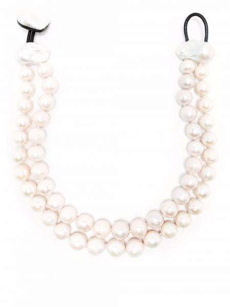 Biały naszyjnik z pereł Monies
