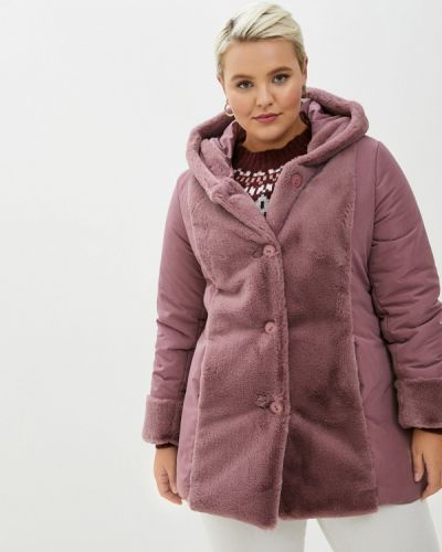Розовая теплая куртка Sophia