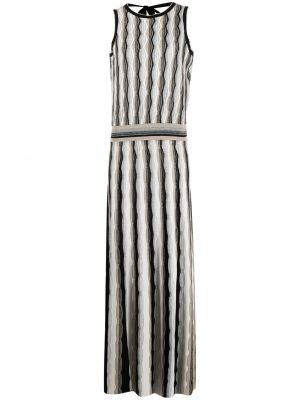 Открытое вязаное черное платье D.exterior