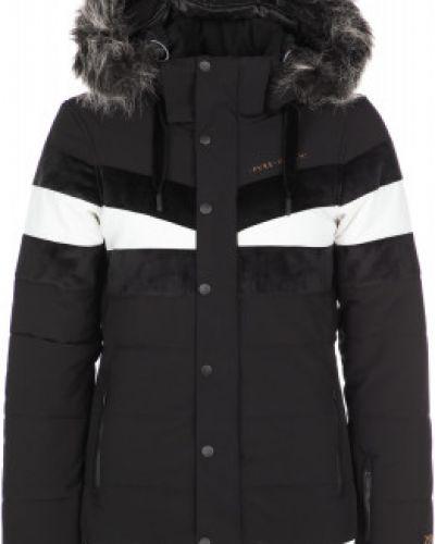 Черная утепленная короткая куртка на молнии Protest