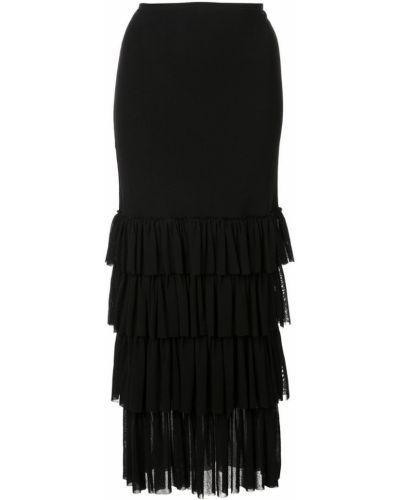 Платье на одно плечо каскадное Fuzzi