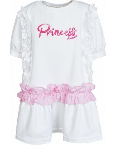 Хлопковое платье - белое Simonetta