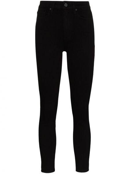 Укороченные зауженные джинсы - черные Paige