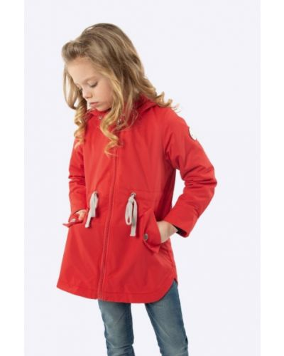 Флисовая длинная куртка с капюшоном с манжетами шалуны