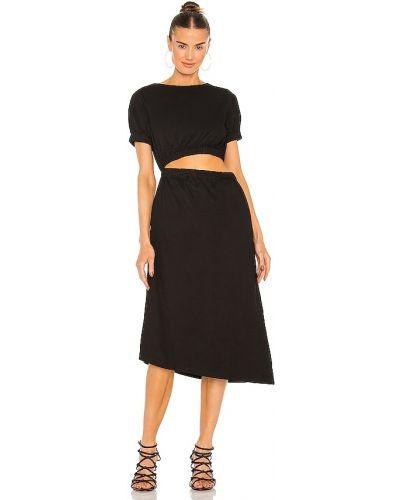 Черное платье на крючках Line & Dot