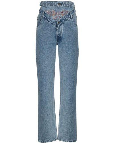 Синие с завышенной талией прямые джинсы Y Project