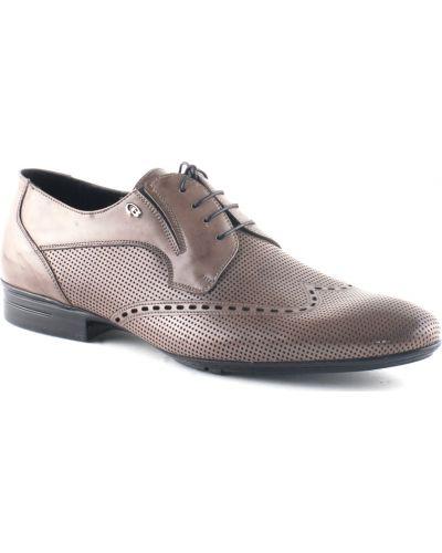 Коричневые туфли с перфорацией Dino Bigioni