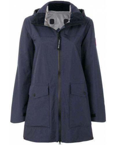 Пальто на молнии синее Canada Goose