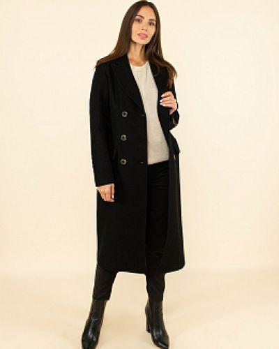 Черное пальто с воротником каляев