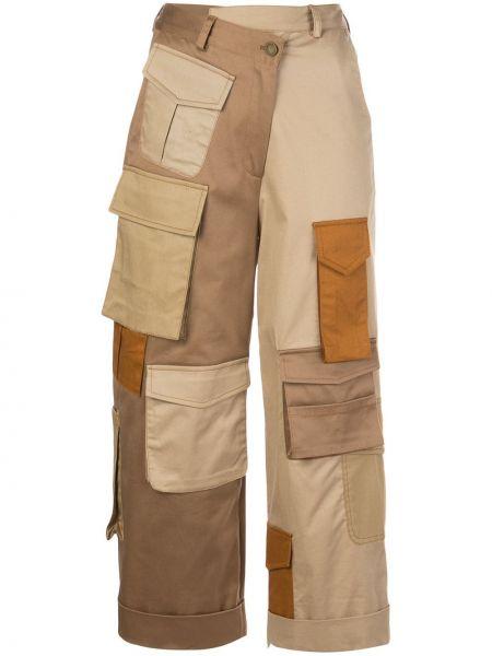 Укороченные брюки карго свободные Monse