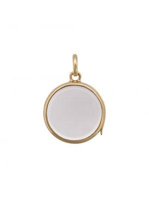Желтый медальон круглый с подвесками Loquet