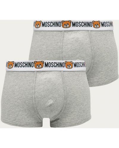 Szare majtki bawełniane z printem Moschino Underwear