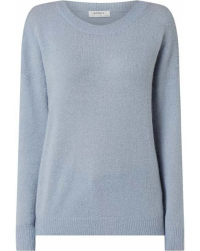 Prążkowany niebieski sweter wełniany Moss Copenhagen