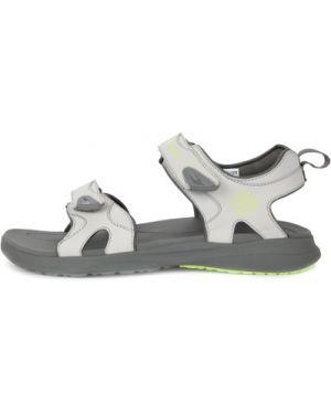 Серые спортивные кожаные сандалии туристические Columbia