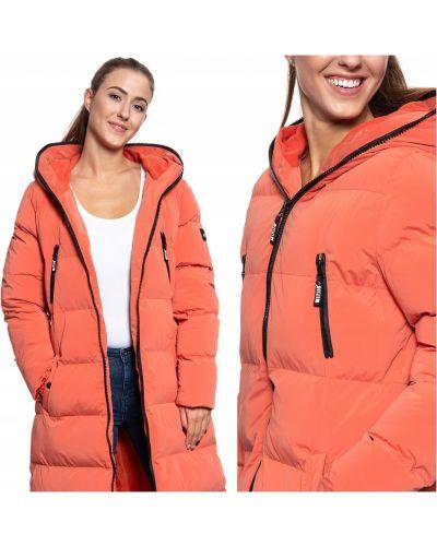 Pomarańczowa kurtka puchowa pikowana bawełniana Mustang
