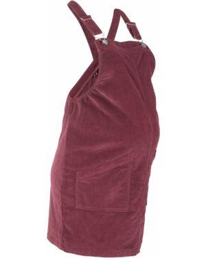 Платье для беременных вельветовое платье-сарафан Bonprix