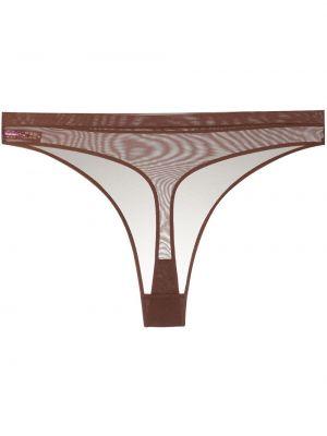 Стринги сетчатые - коричневые Maison Close