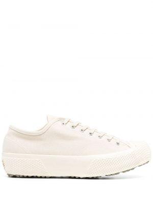 Белые кеды на платформе на шнуровке Superga